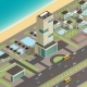 Isometric City Constructor With Hotel