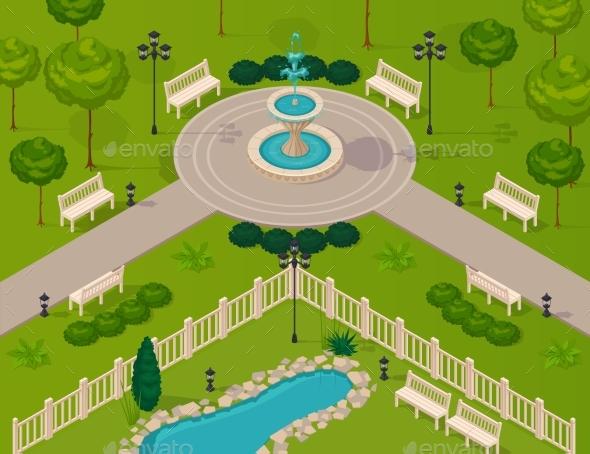 Fragment Of City Park Landscape - Landscapes Nature