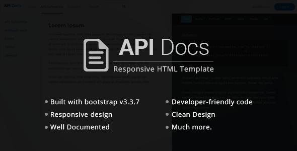 API Docs HTML Responsive Templates
