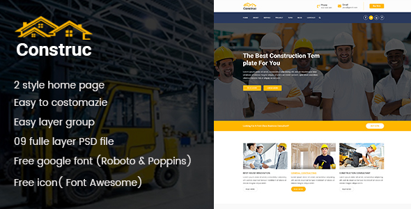 Construction PSD Template - Business Corporate