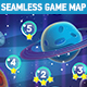 Seamless Vertical Space Game Map - GraphicRiver Item for Sale
