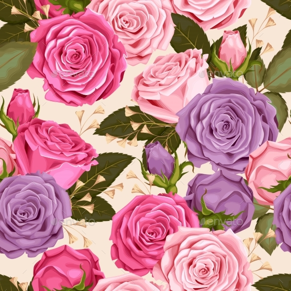 Roses Seamless - Flowers & Plants Nature