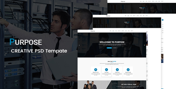 Purpose - Corporate PSD Template