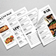 Newspaper Style Food Menus - GraphicRiver Item for Sale