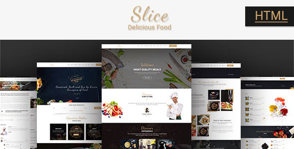 Slice Restaurant - Responsive Bootstrap Template - Food Retail