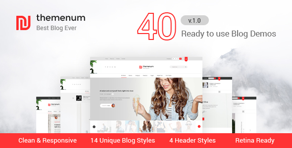 themenum - Responsive Blog HTML Template for Ads Businesses - Personal Site Templates