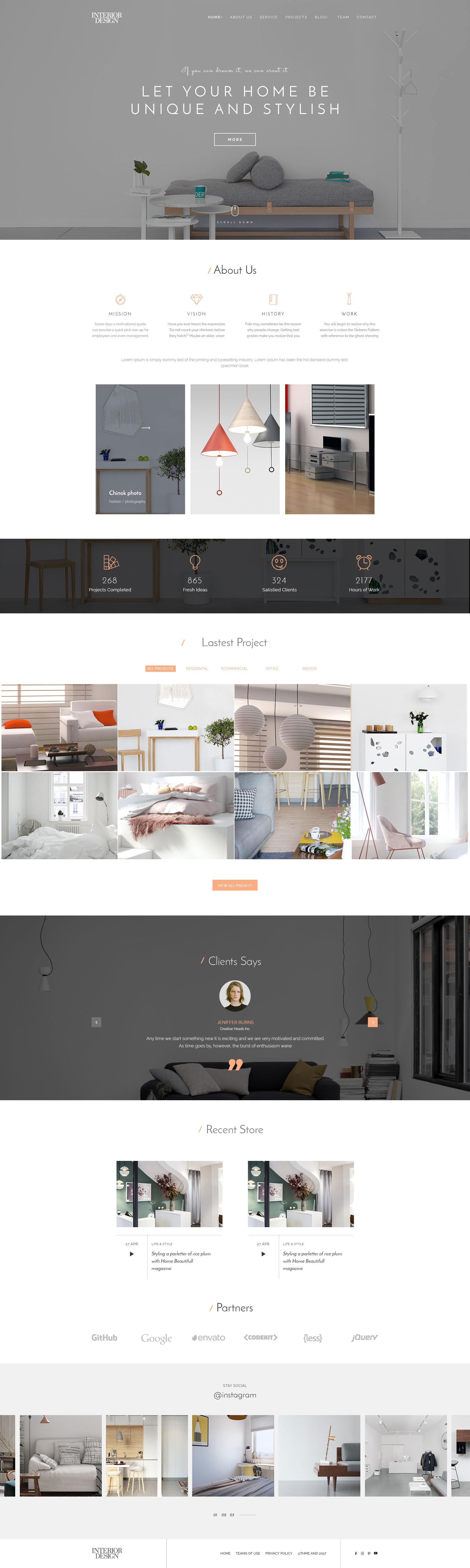 Interior Design - HTML5 Template for Interior Designer - 1