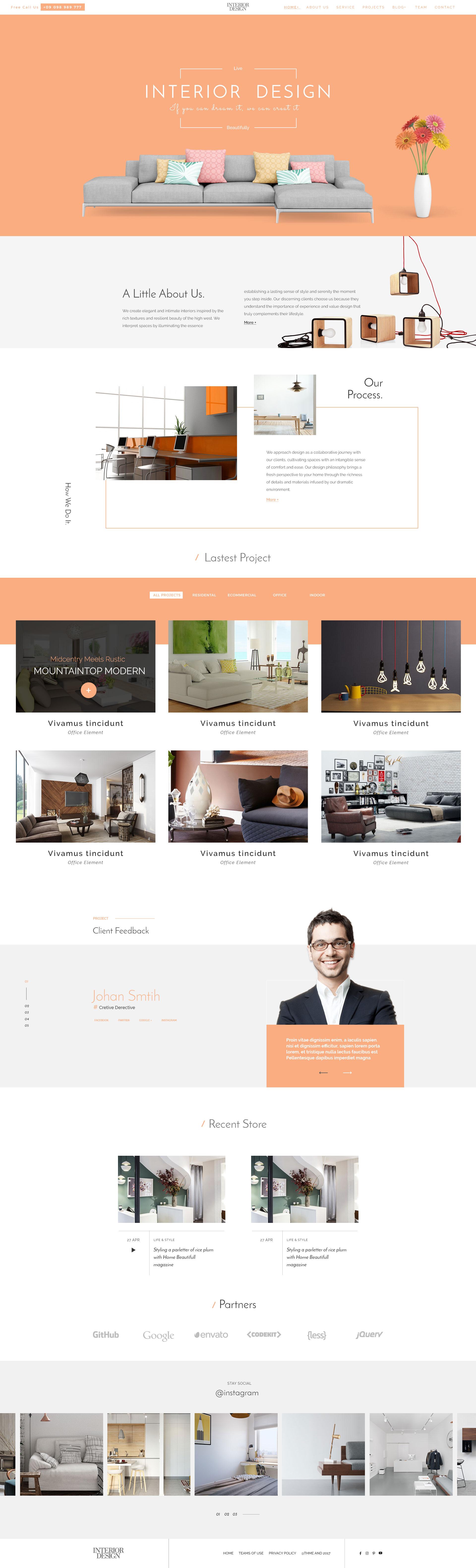 Interior Design - HTML5 Template for Interior Designer - 2