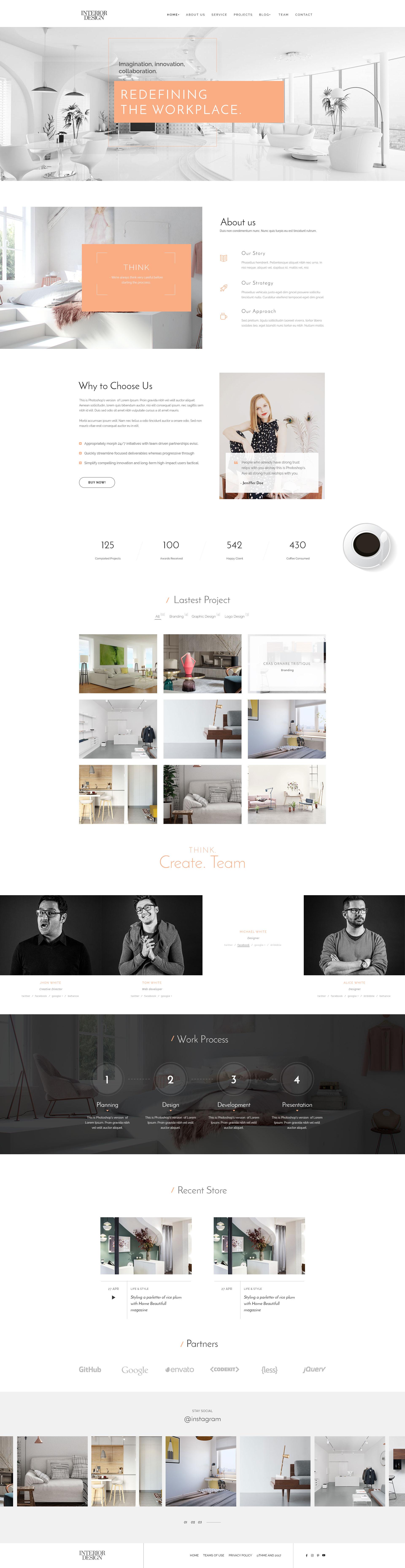 Interior Design - HTML5 Template for Interior Designer - 3