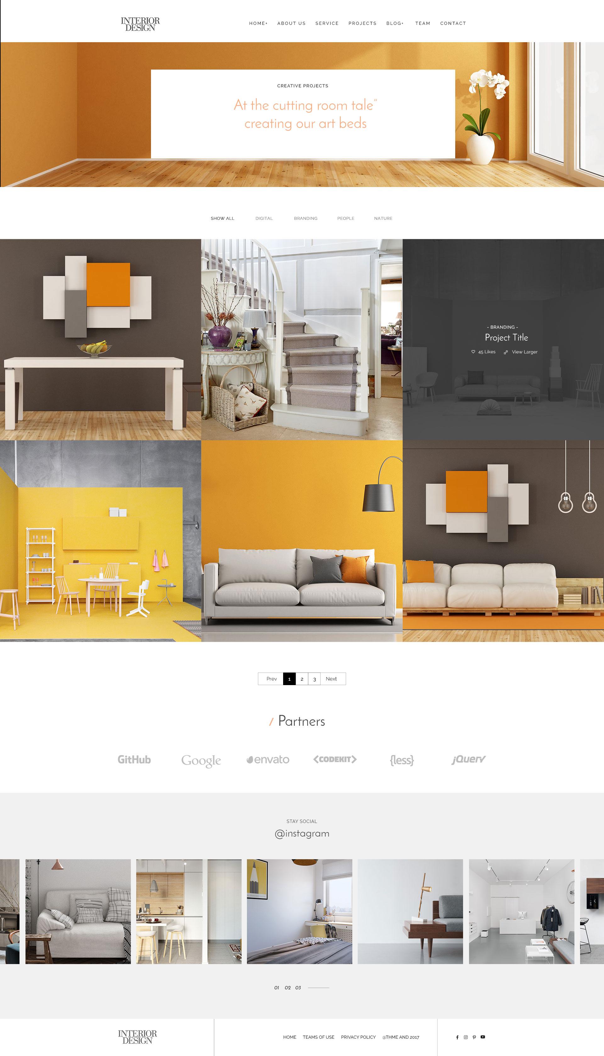 Interior design home projects - Interior Design Psd Template