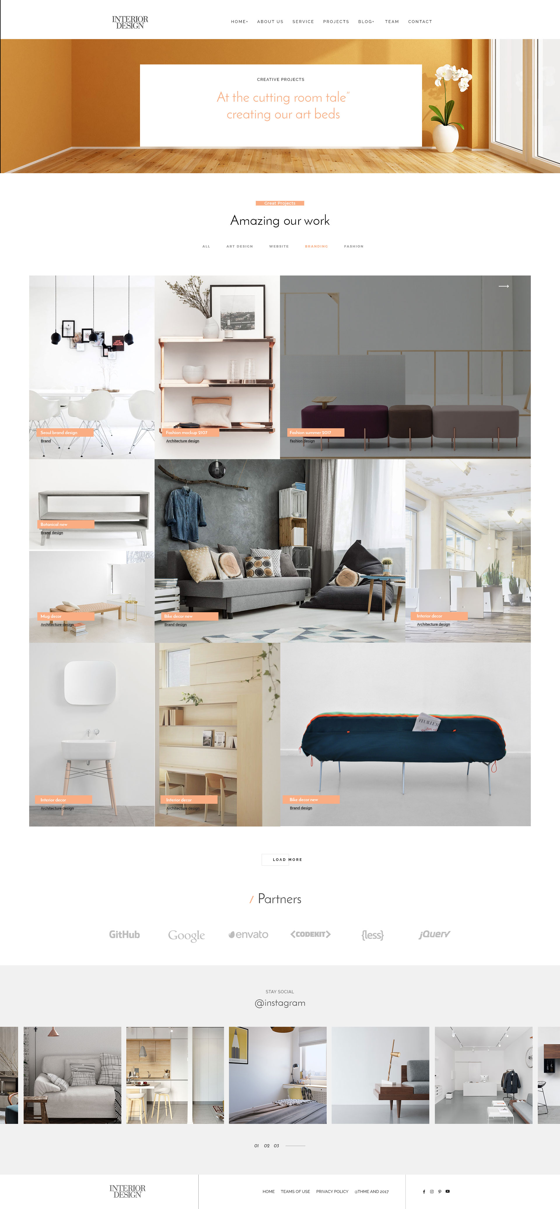 Interior Design Html5 Template For Interior Designer By