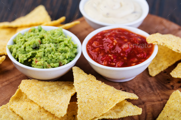 Corn chips nachos - Stock Photo - Images
