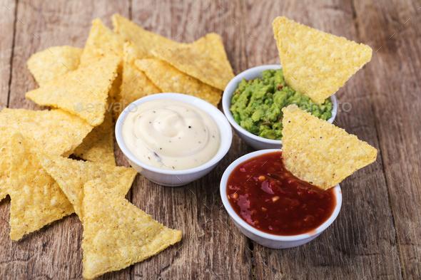 Corn chips nachos - Stock Photo - Images