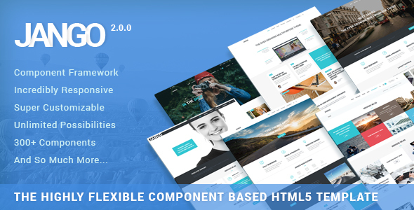Jango | Highly Flexible Component Based HTML5 Template Screenshot