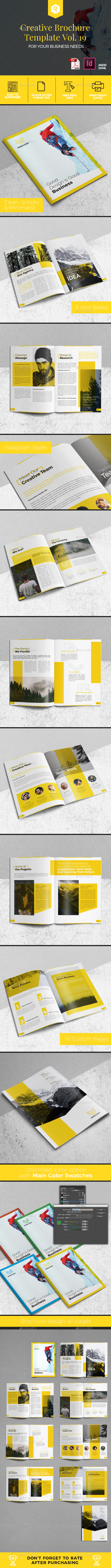 Creative Brochure Template Vol. 19 - Corporate Brochures