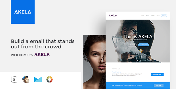 AKELA - Responsive Email Template Minimal - Email Templates Marketing