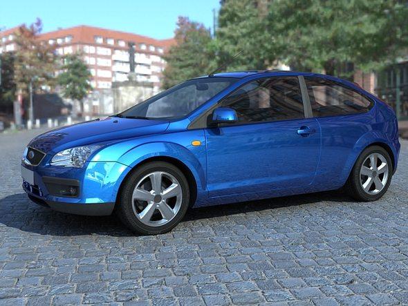 Ford Focus 2007 3doors - 3DOcean Item for Sale