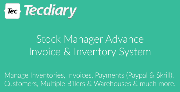 Stock Manager Advance (Invoice & Inventory System) by Tecdiary ...