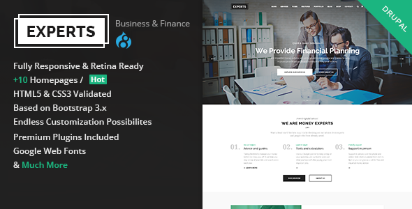 preview.  large preview - Experts Business - Multipurpose Business & Finance Drupal Theme