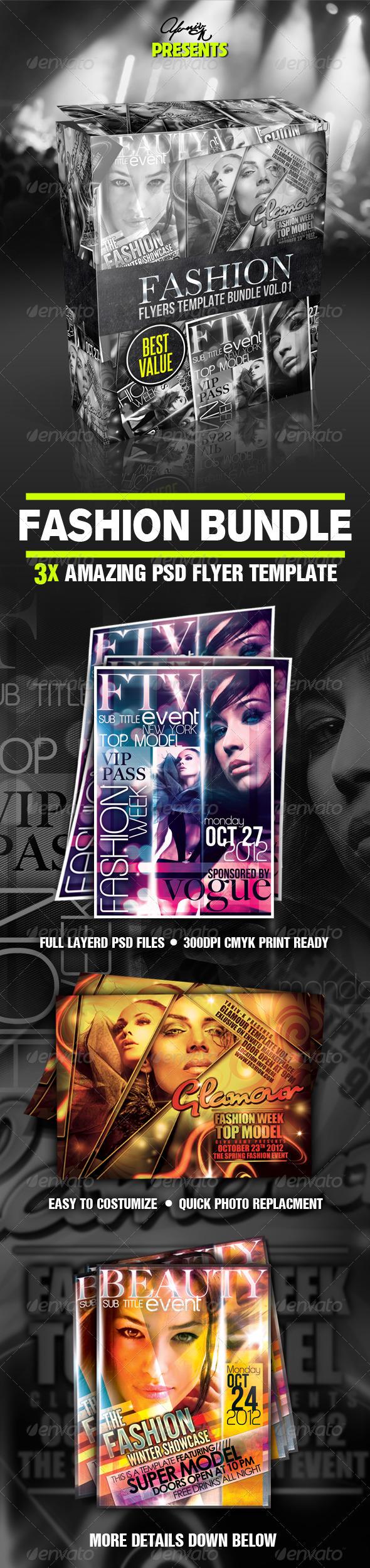Fashion Flyer Bundle - Clubs & Parties Events