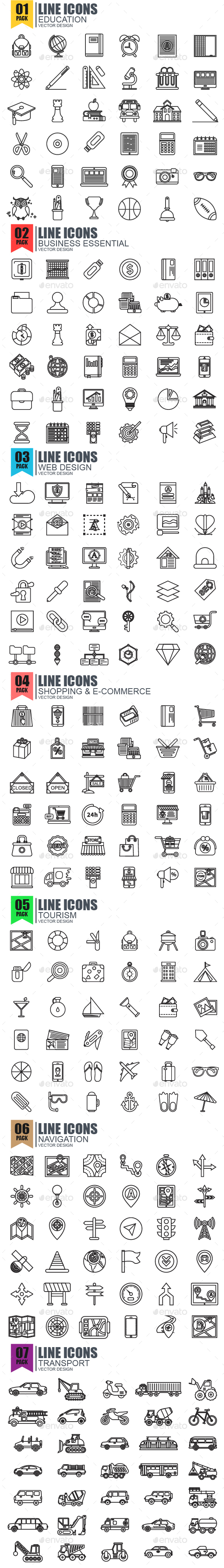 Thin Line Icons - Icons