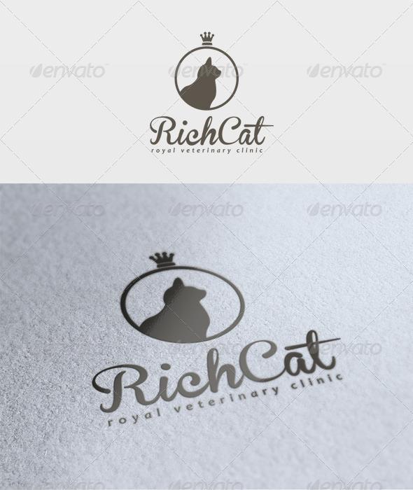 Rich Cat Logo - Animals Logo Templates