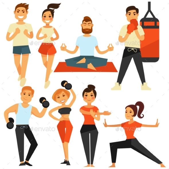 People Fitness and Sport Exercise or Training - Sports/Activity Conceptual