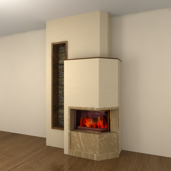 Fireplace - 3DOcean Item for Sale