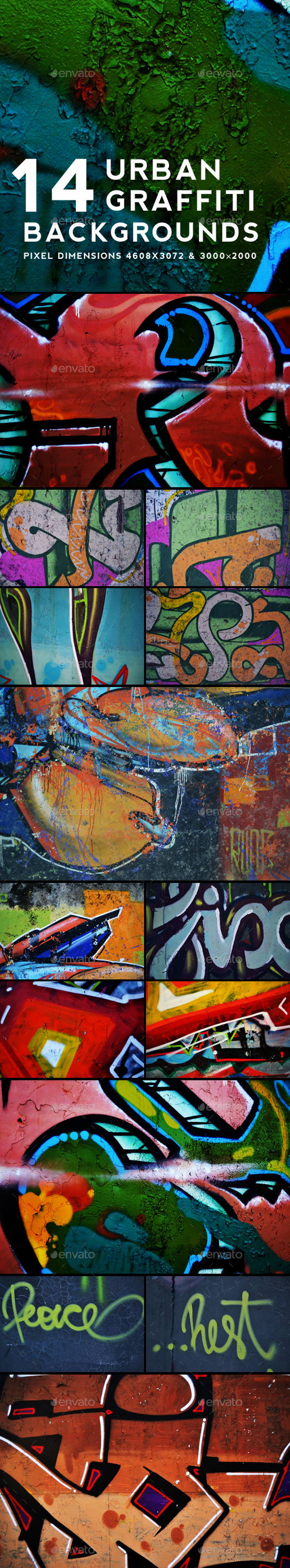 Urban Graffiti Backgrounds v7 - Urban Backgrounds
