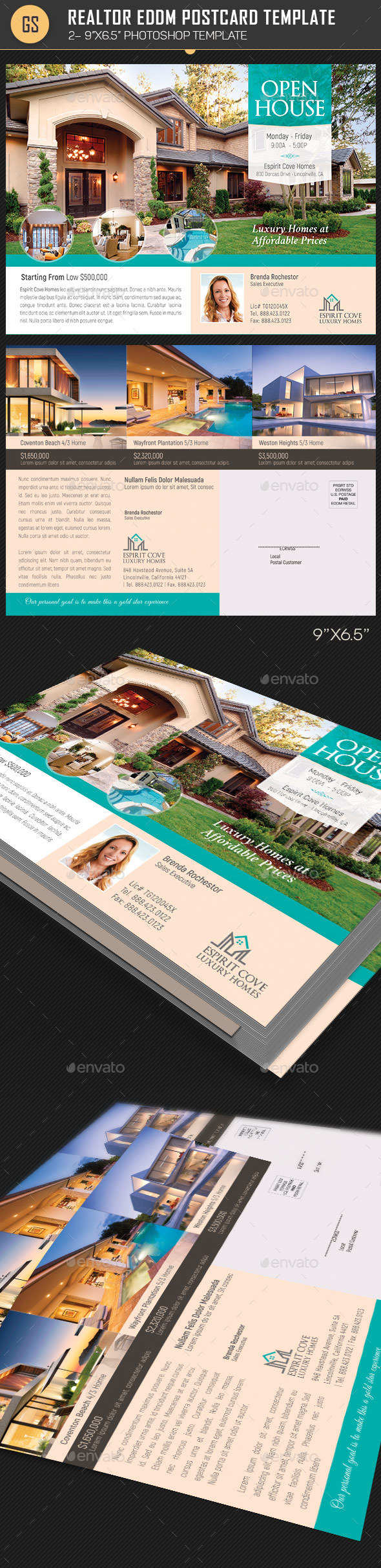 Real Estate EDDM Postcard Template - Corporate Flyers