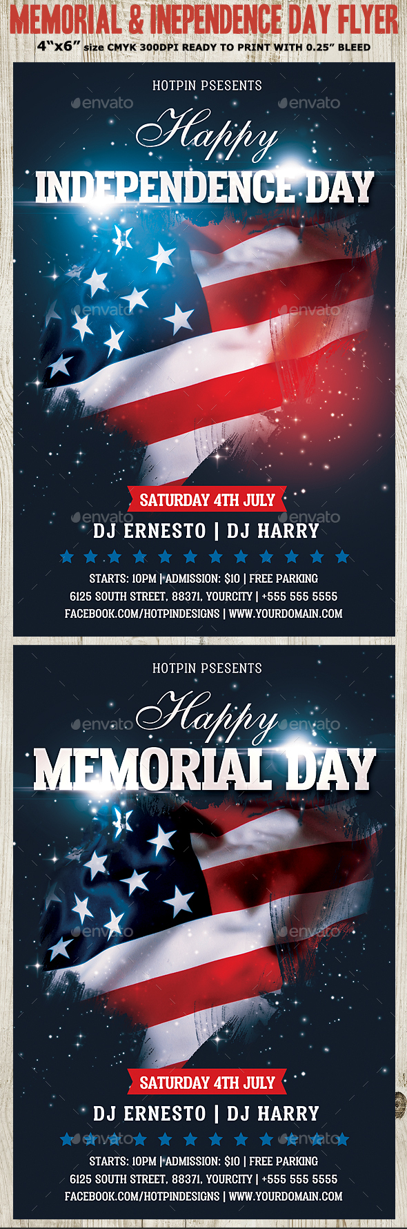 Memorial/Independence Day Flyer Template - Events Flyers