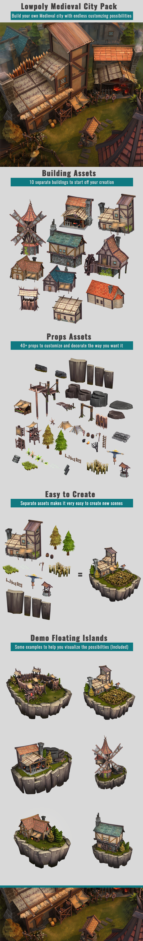 Medieval City Pack - 3DOcean Item for Sale