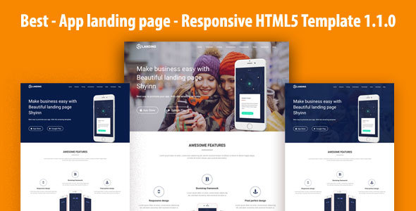 Best – App landing page – Responsive HTML5 Template 1.1.0