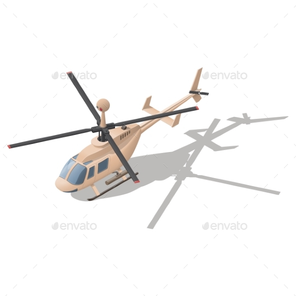 Fire Support or Reconnaissance Helicopter - Miscellaneous Vectors