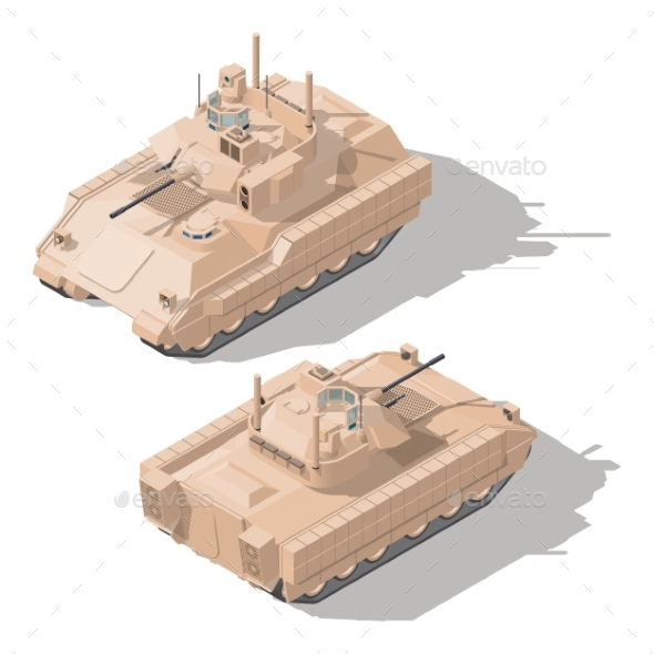 Infantry Combat Vehicle with Dynamic Protection - Miscellaneous Vectors