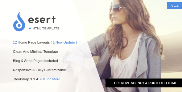 Desert – Multipurpose Agency HTML Template