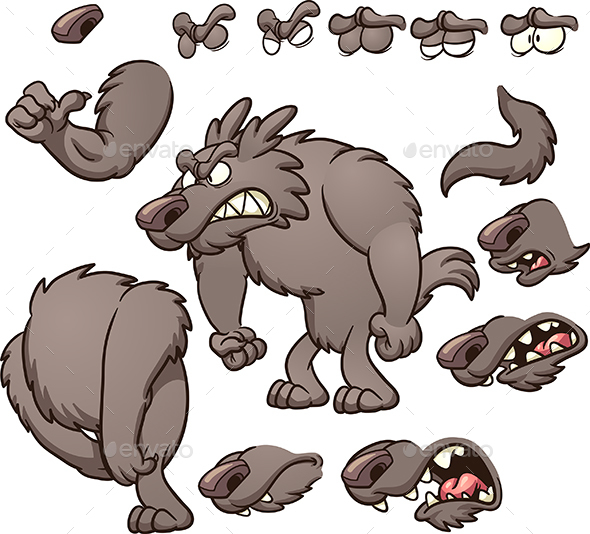 Cartoon Wolf - Animals Characters