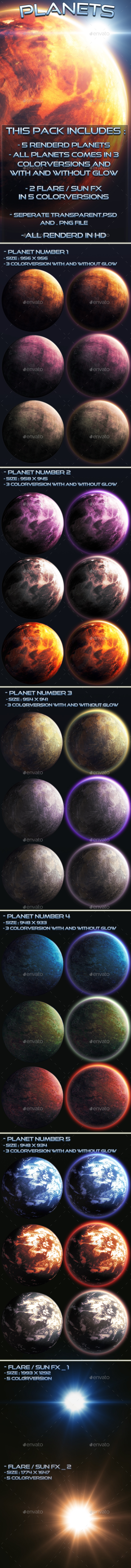 Planets - Miscellaneous Game Assets