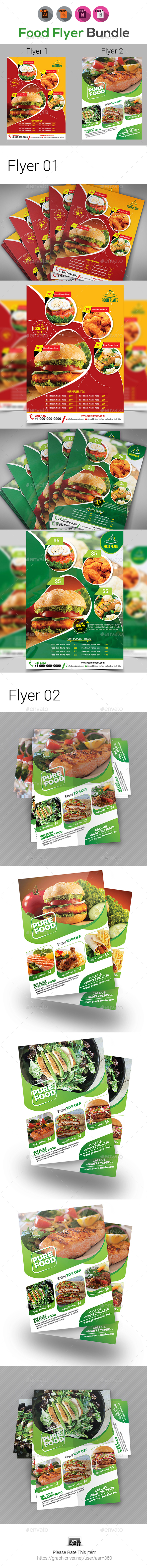 Food Flyers Bundle Templates - Restaurant Flyers