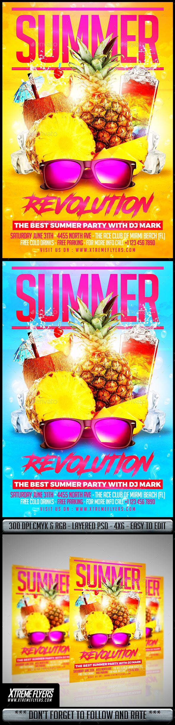 summer party flyer by matteogianfreda graphicriver