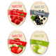 Set of Labels of Berries and Fruit - GraphicRiver Item for Sale