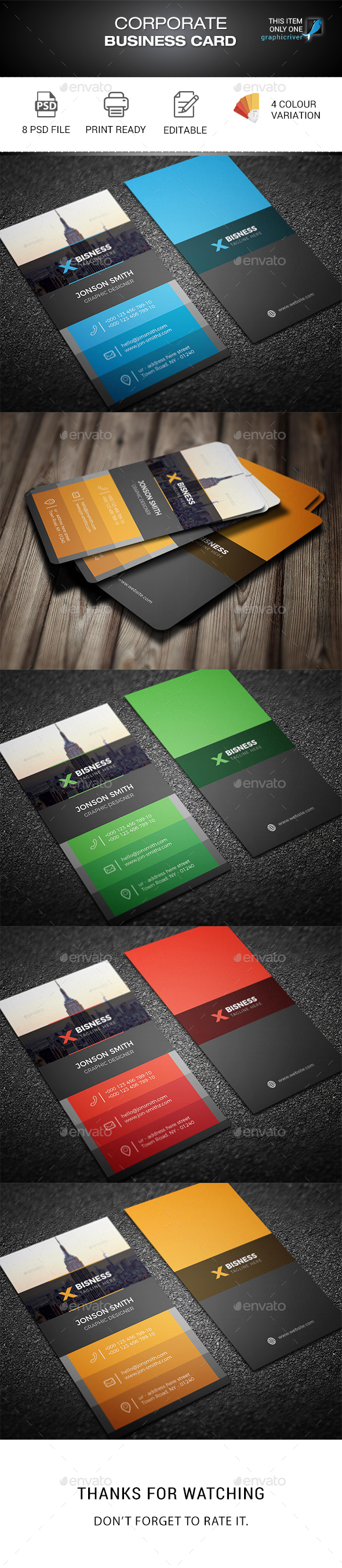 Corporate business card by madmindgraphics graphicriver corporate business card corporate business cards magicingreecefo Choice Image