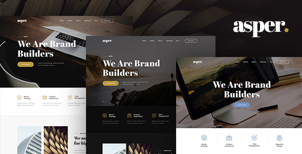 Asper – Responsive Multipurpose Adobe Muse Theme