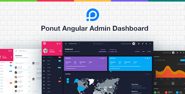 Ponut - Angular Admin Dashboard