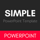SIMPLE Multipurpose PowerPoint Template - GraphicRiver Item for Sale
