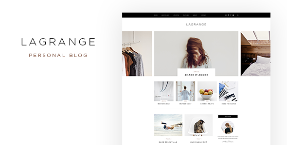 LaGrange – Blog PSD Template