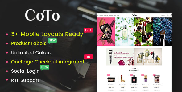 Coto – Beauty & Spa Store OpenCart 2.3 Theme - OpenCart eCommerce