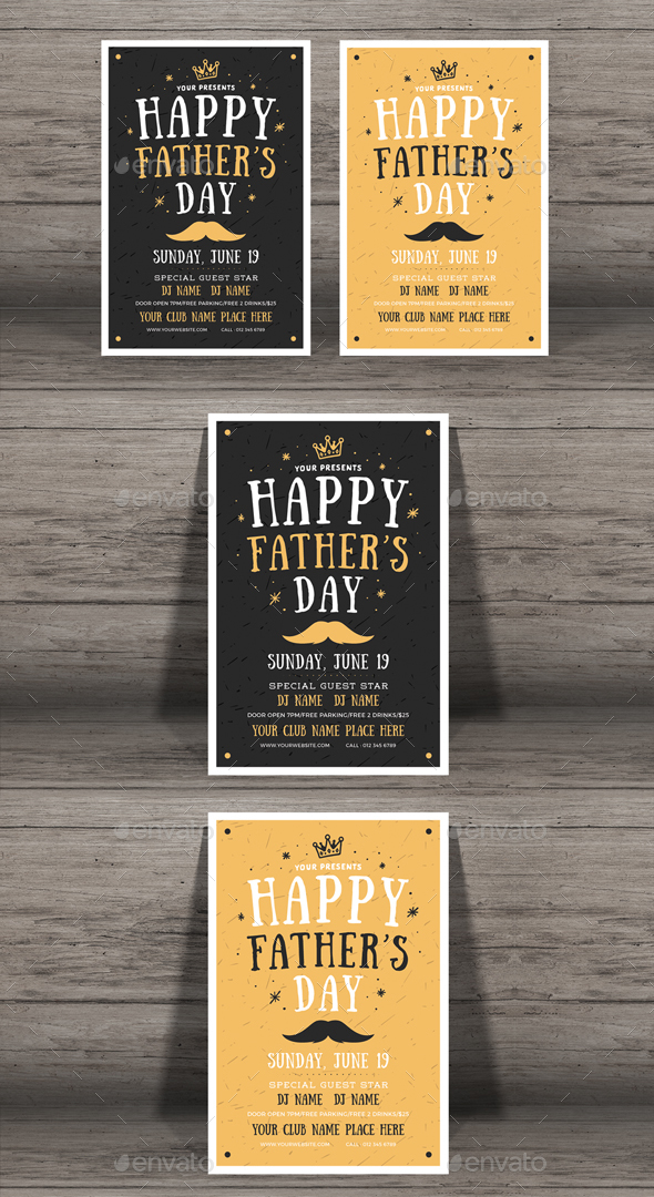 Happy Father's Day Flyer - Events Flyers
