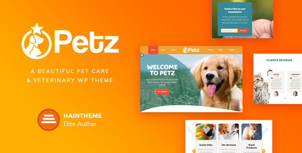 Petz – Pet Care, Shop & Veterinary Theme