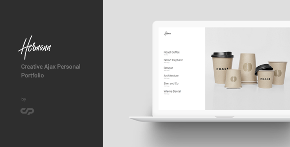 Hermann - Creative Ajax Portfolio Template - Creative Site Templates